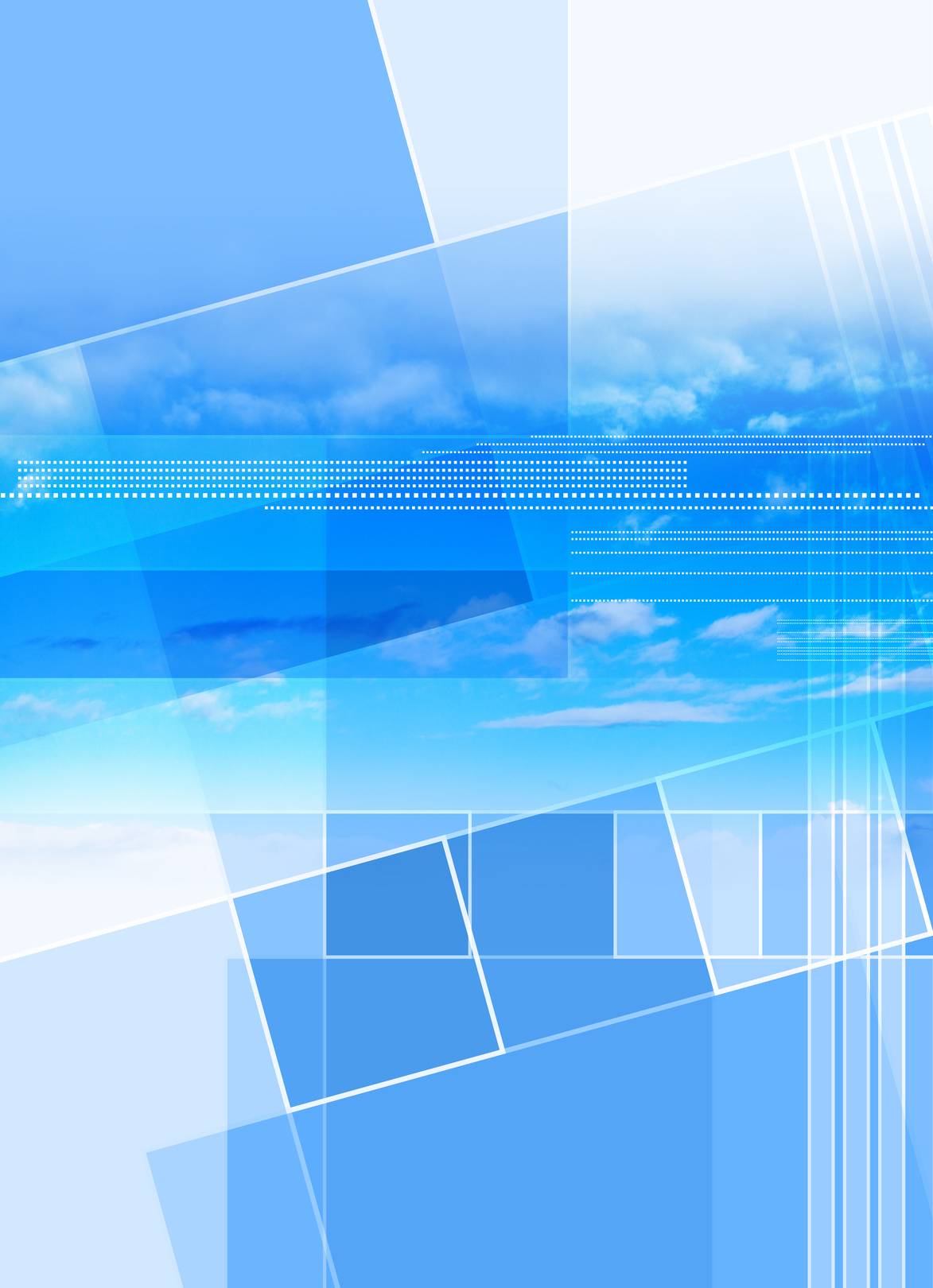 abstract blue sky cover